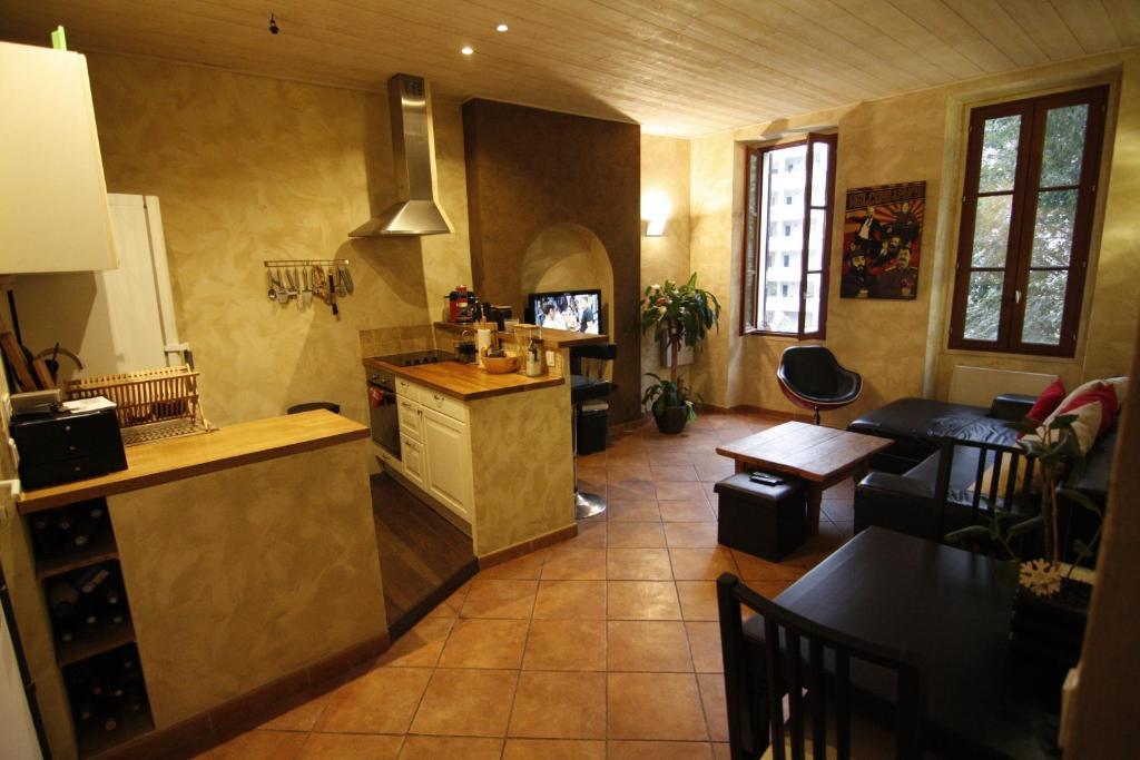 A kitchen or kitchenette at 24 Rue Bénédit