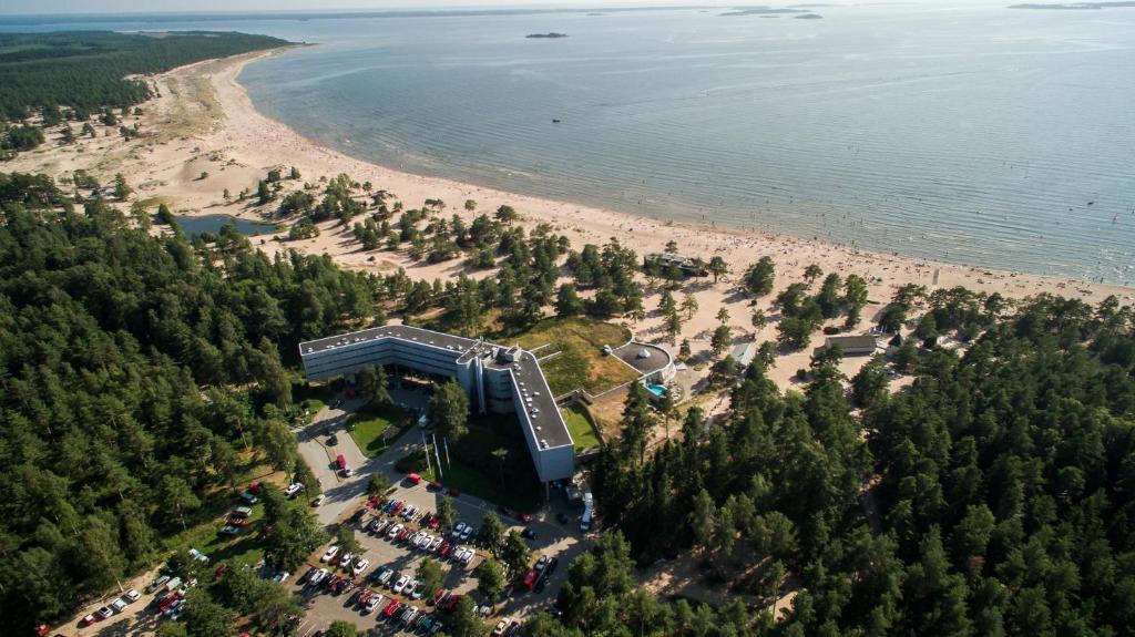 Ett flygfoto av Yyteri Spa Hotel