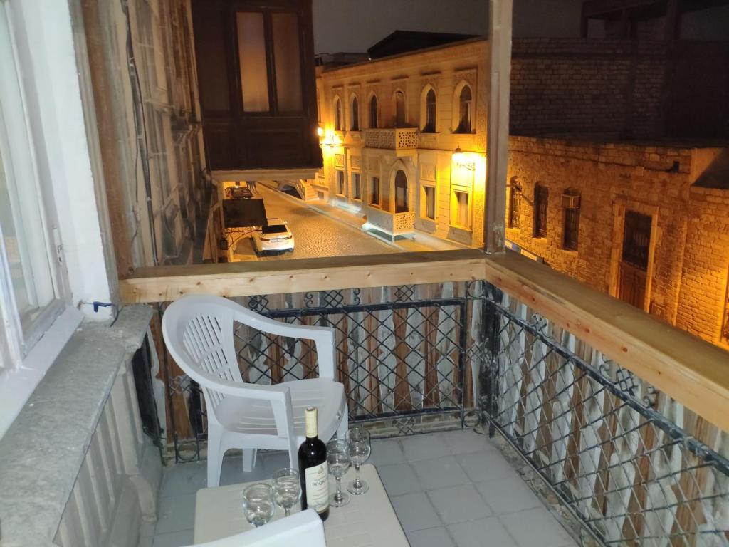 Uma varanda ou terraço em Old city apartment