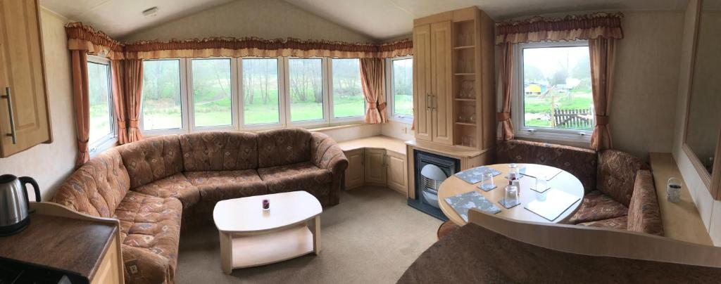 A seating area at Yeovil accomodation Business & Pleasure
