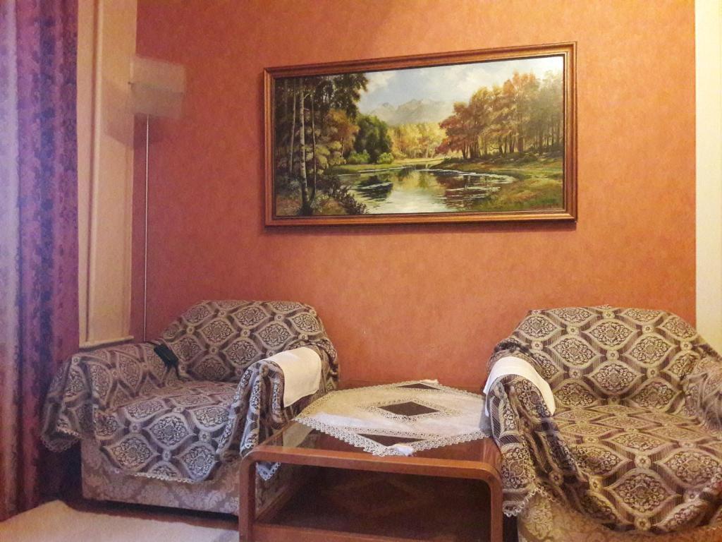 Uma área de estar em National Library 1 BEDROOM
