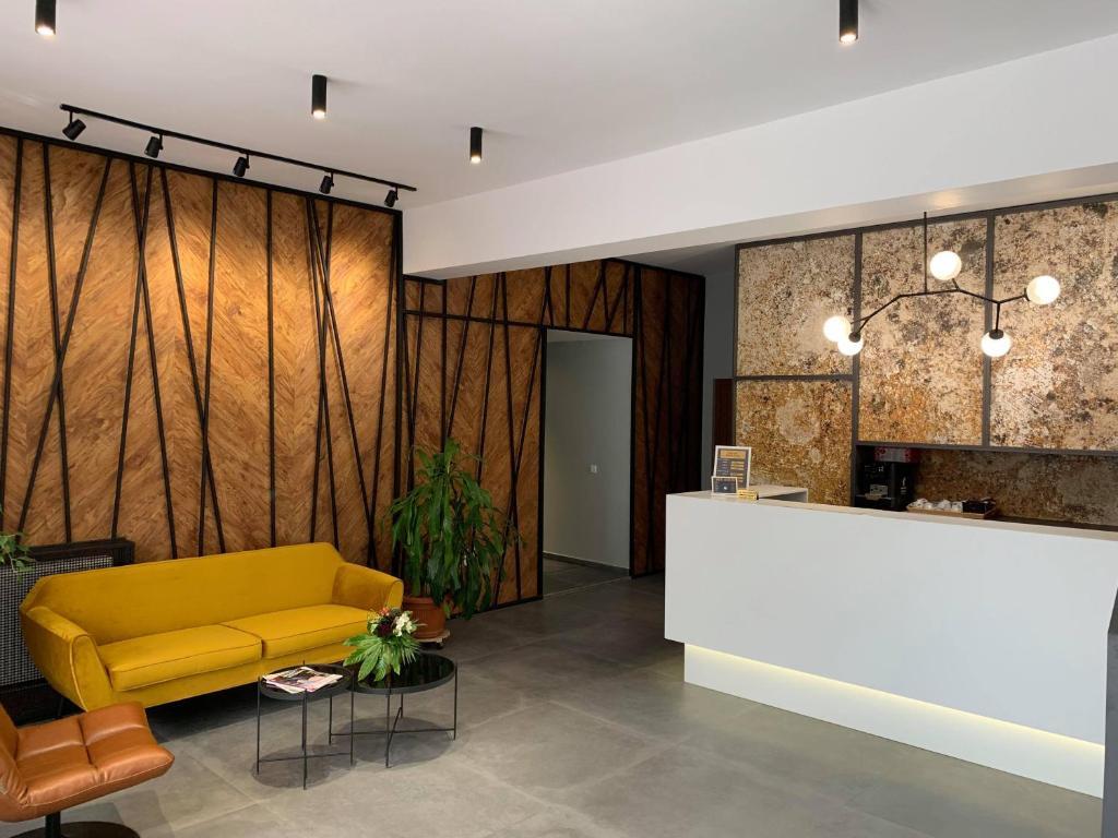The lobby or reception area at Casa Boca