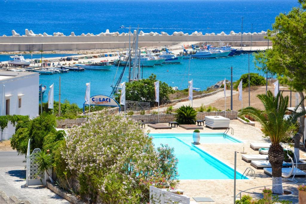 A view of the pool at Approdo Boutique Hotel Leuca or nearby