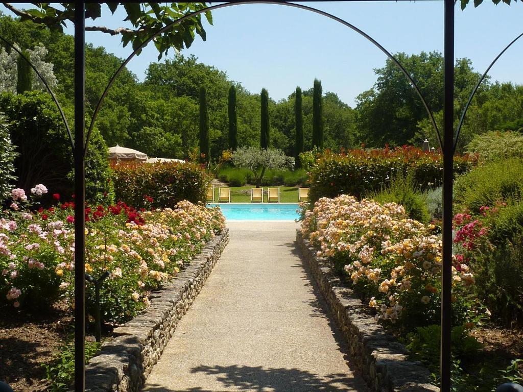 The swimming pool at or near Mas De La Senancole