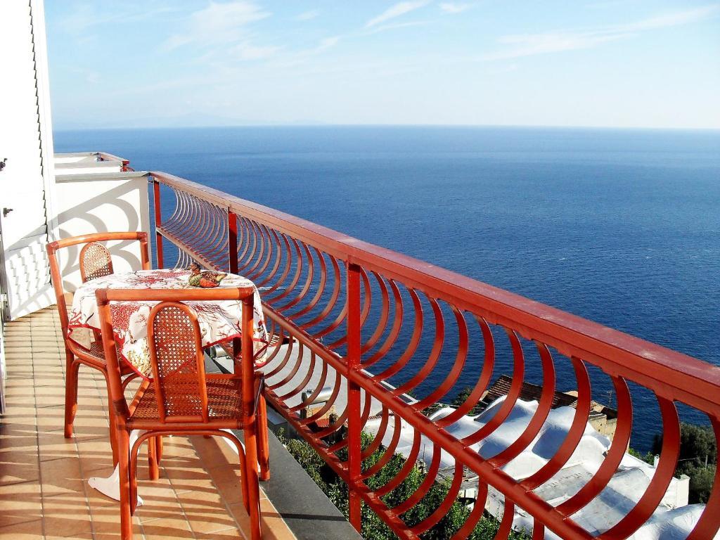 A balcony or terrace at Locazione Turistica Caleidoscopio