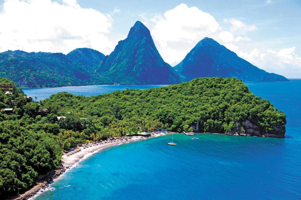 A bird's-eye view of Anse Chastanet Resort