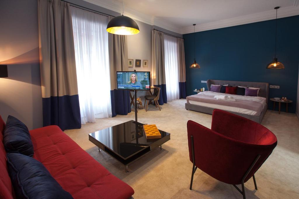 Uma área de estar em Kasamasa Hotel
