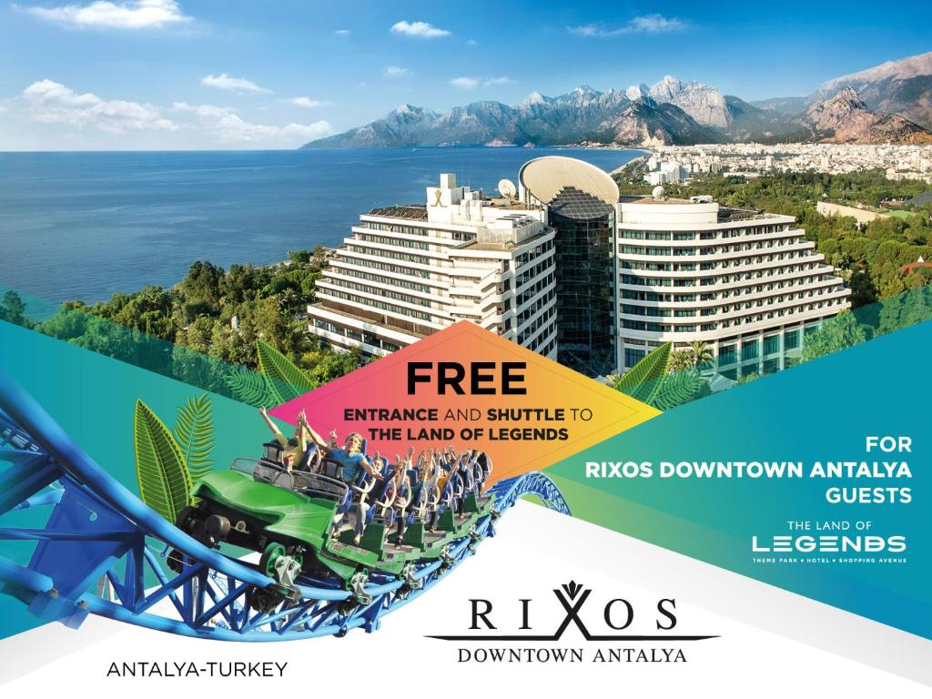 Rixos Downtown Antalya All Inclusive з висоти пташиного польоту