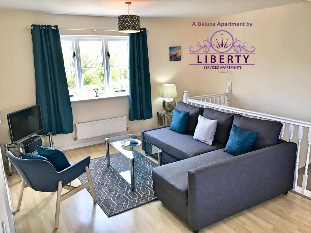 A seating area at Liberty Locking Castle