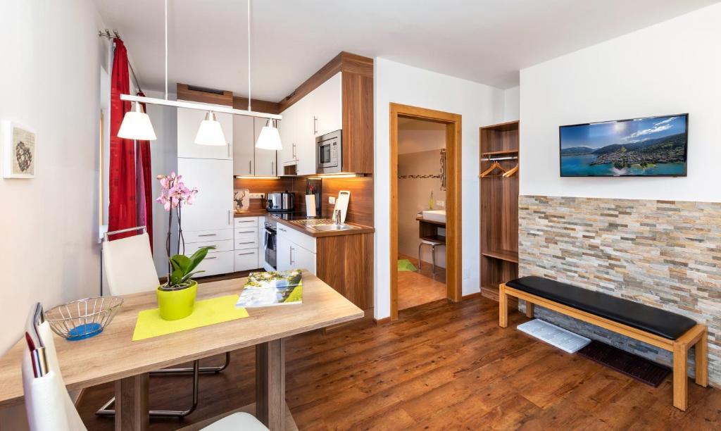 Küche/Küchenzeile in der Unterkunft Appartement Pension Albert