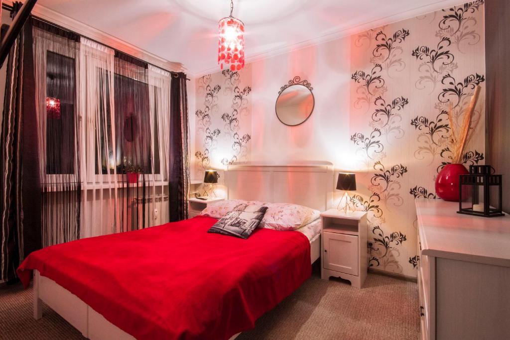Łóżko lub łóżka w pokoju w obiekcie Apartament Słoneczna