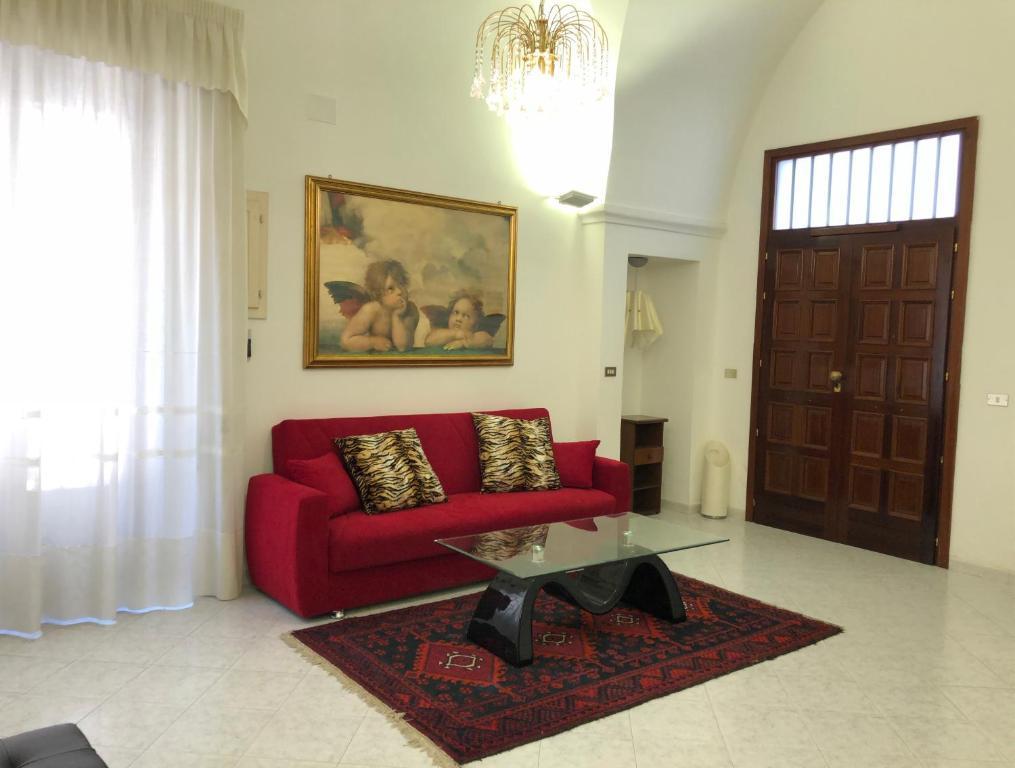 Area soggiorno di Dimora del '500 -City Apartment San Vito