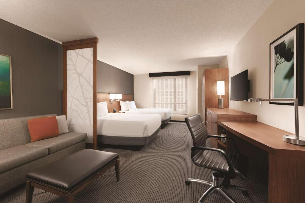 A room at the Hyatt Place Inner Harbor.