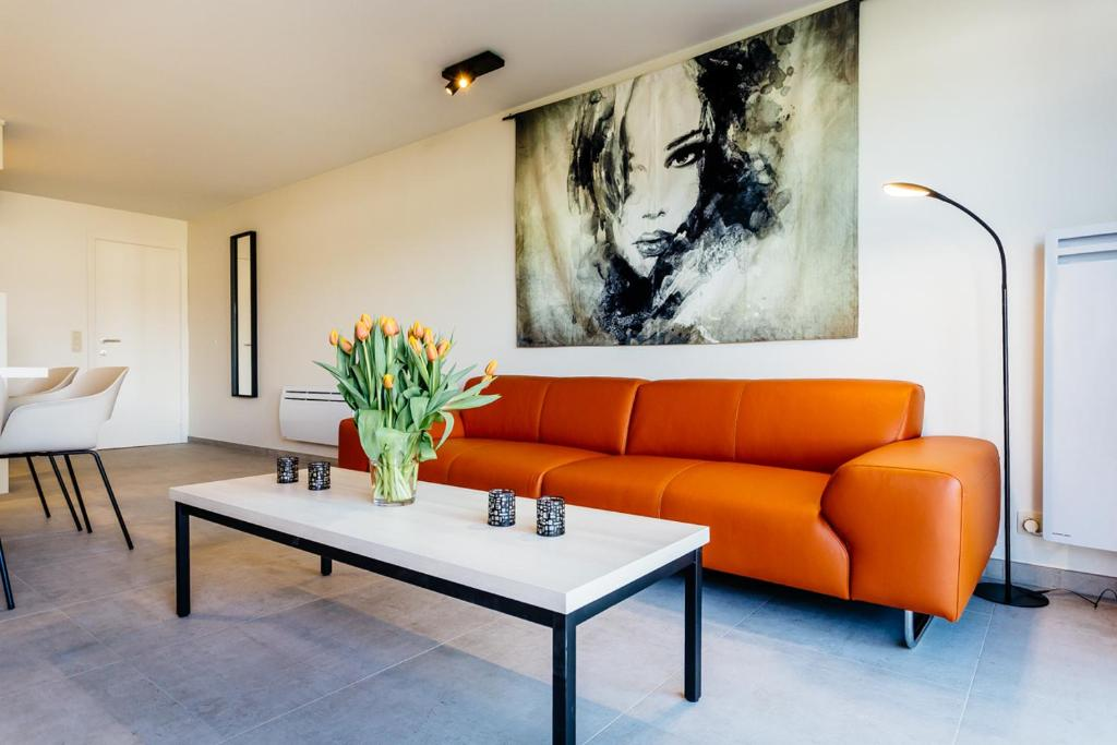 A seating area at Holiday Home Jonckershof