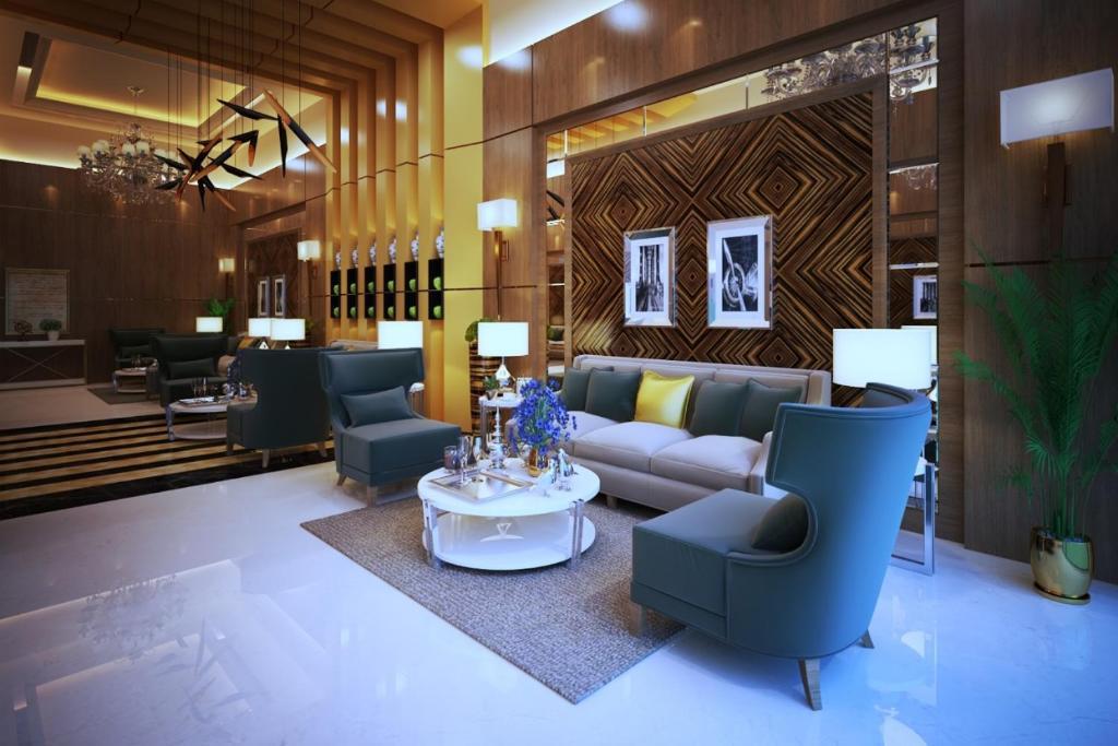 O saguão ou recepção de Lavona Tiba Hotel