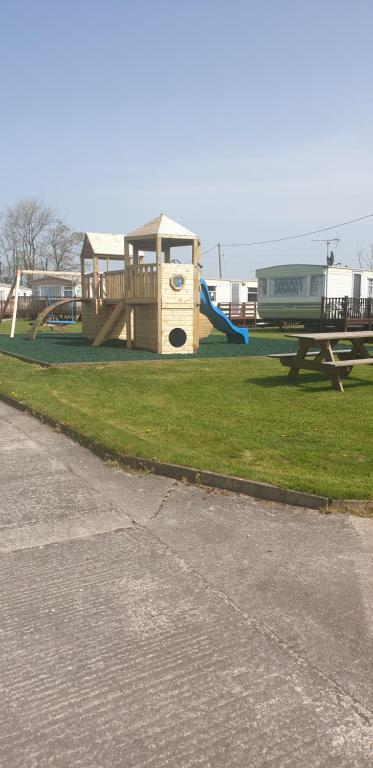 Children's play area at Redford Caravan Park
