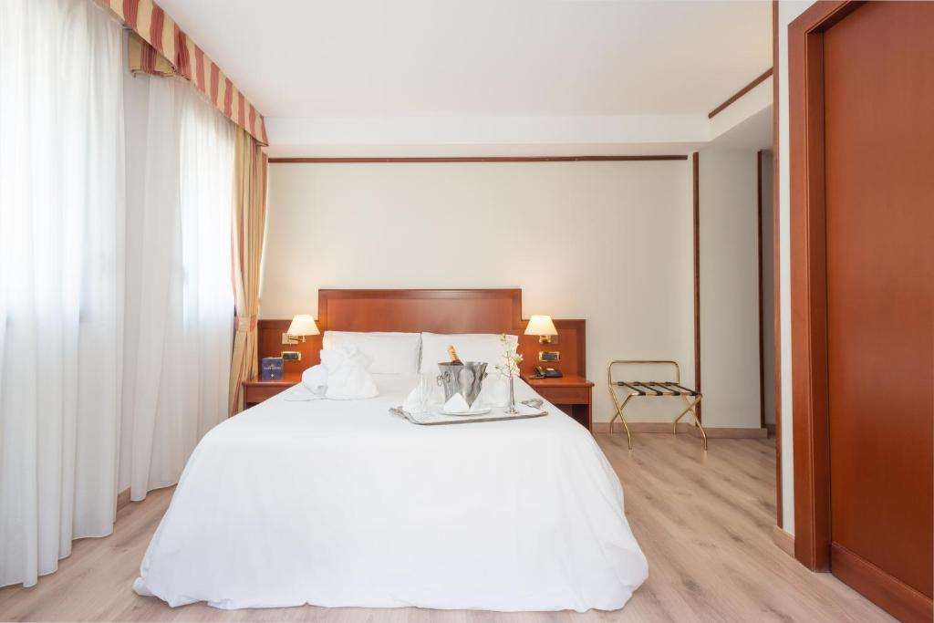 Cama o camas de una habitación en Hotel Spa Termes Carlemany