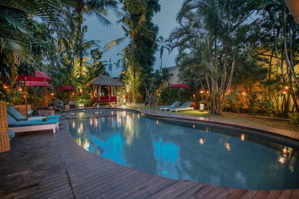 The swimming pool at or near The Secret Jungle Villas Seminyak