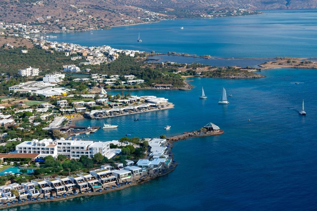 A bird's-eye view of Elounda Beach Hotel & Villas, a Member of the Leading Hotels of the World