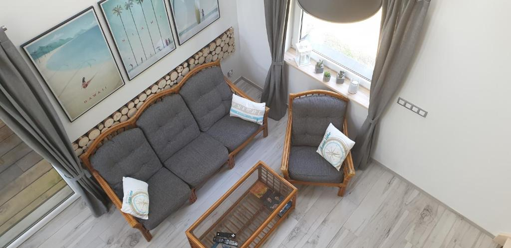 A seating area at Sasinko