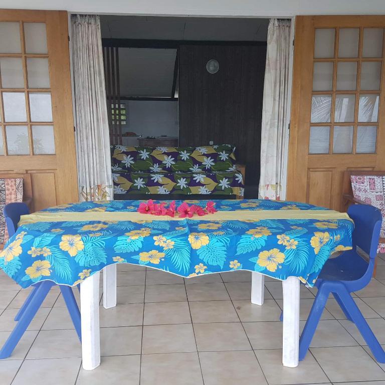 Espaço para refeições na hospedagem domiciliar