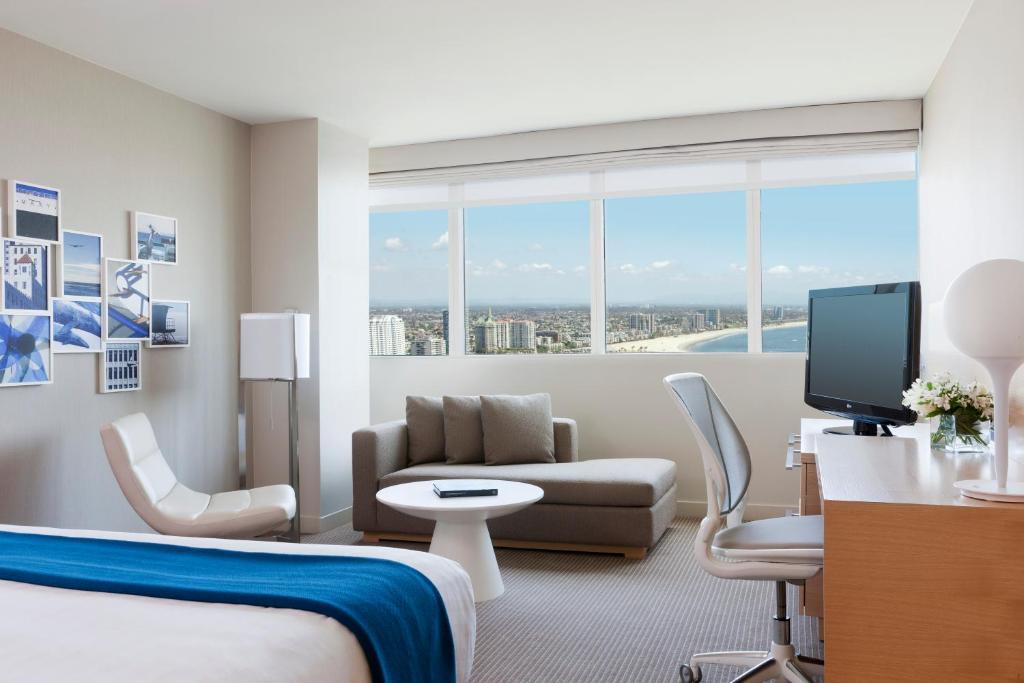 A room at the Hyatt Regency Long Beach.