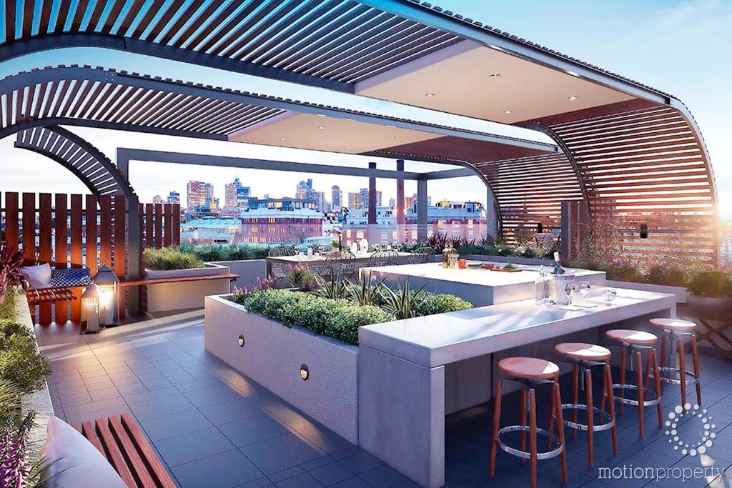 The lounge or bar area at BHB Designer Collingwood