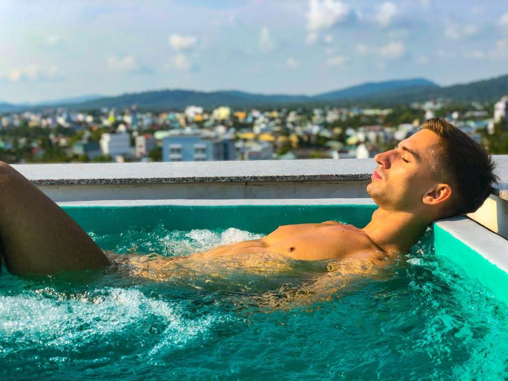 The swimming pool at or near Friends Gay House - hotel, club, sauna