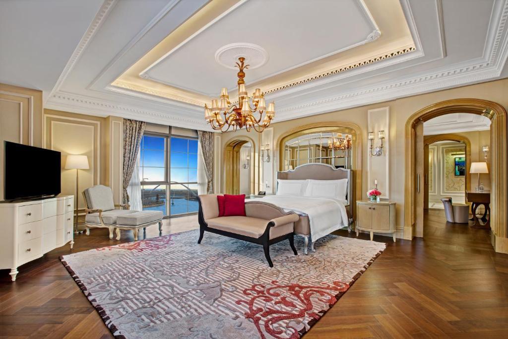 A room at the Habtoor Palace Dubai.