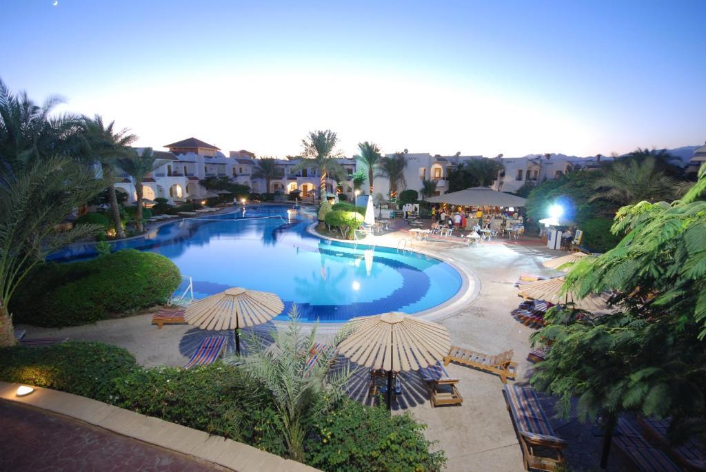 Uitzicht op het zwembad bij Dive Inn Resort of in de buurt