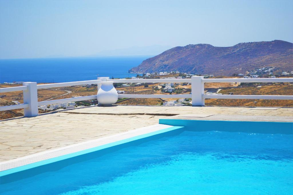 The swimming pool at or near Mykonos Supreme Comfort Suites