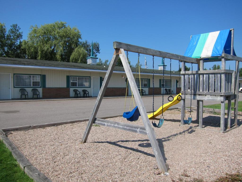 Children's play area at Fundy Spray Motel