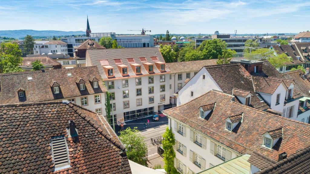 A bird's-eye view of SET Hotel.Residence by Teufelhof Basel