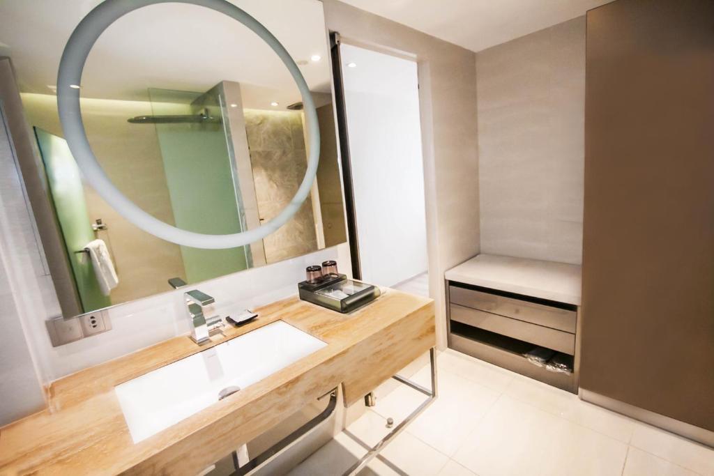 A bathroom at Hotel XYZ