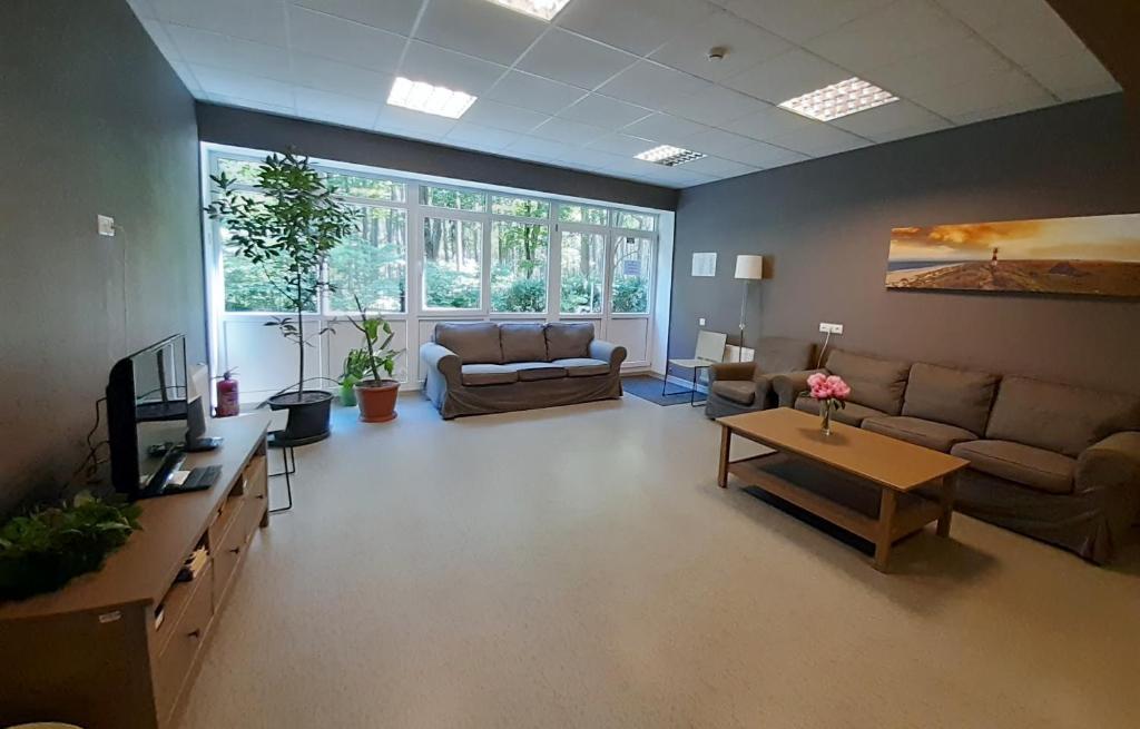 A seating area at Summer hostel Kaija