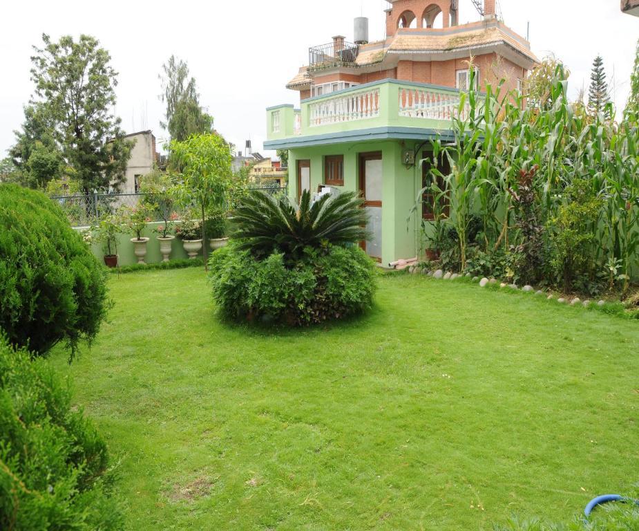 A garden outside Eco Homestay