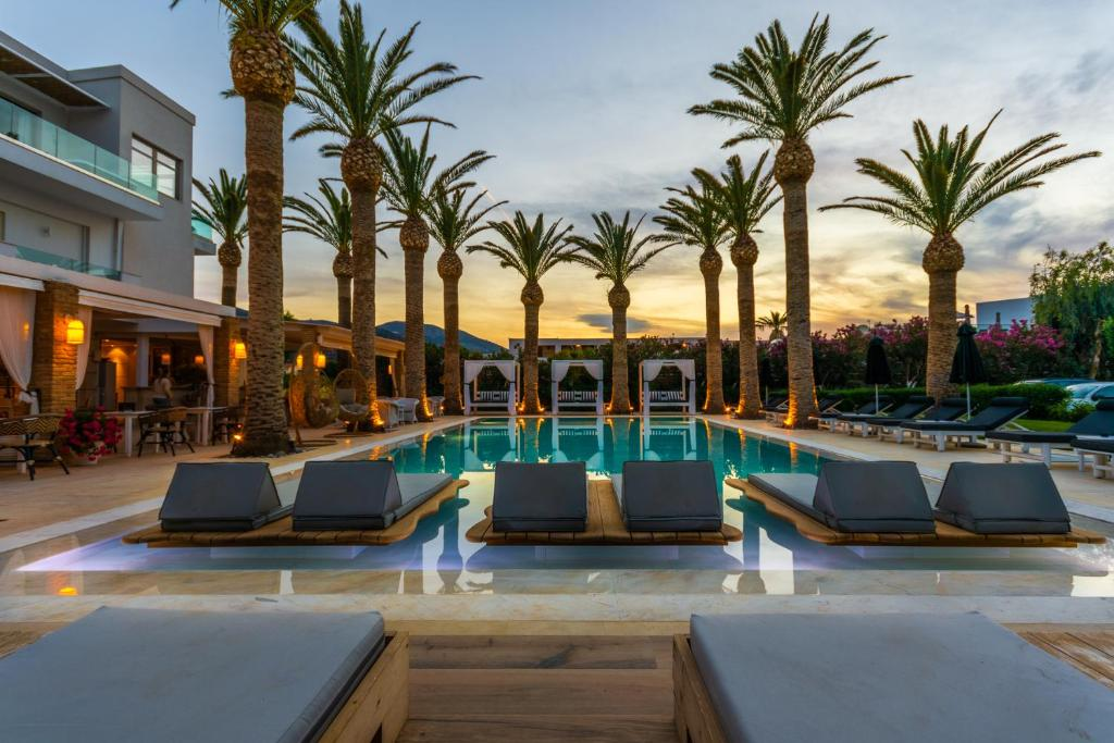 The swimming pool at or near Drossia Palms Hotel and Nisos Beach Suites