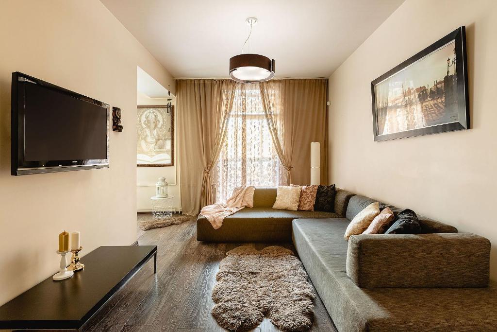 Гостиная зона в Апартаменты Аврора
