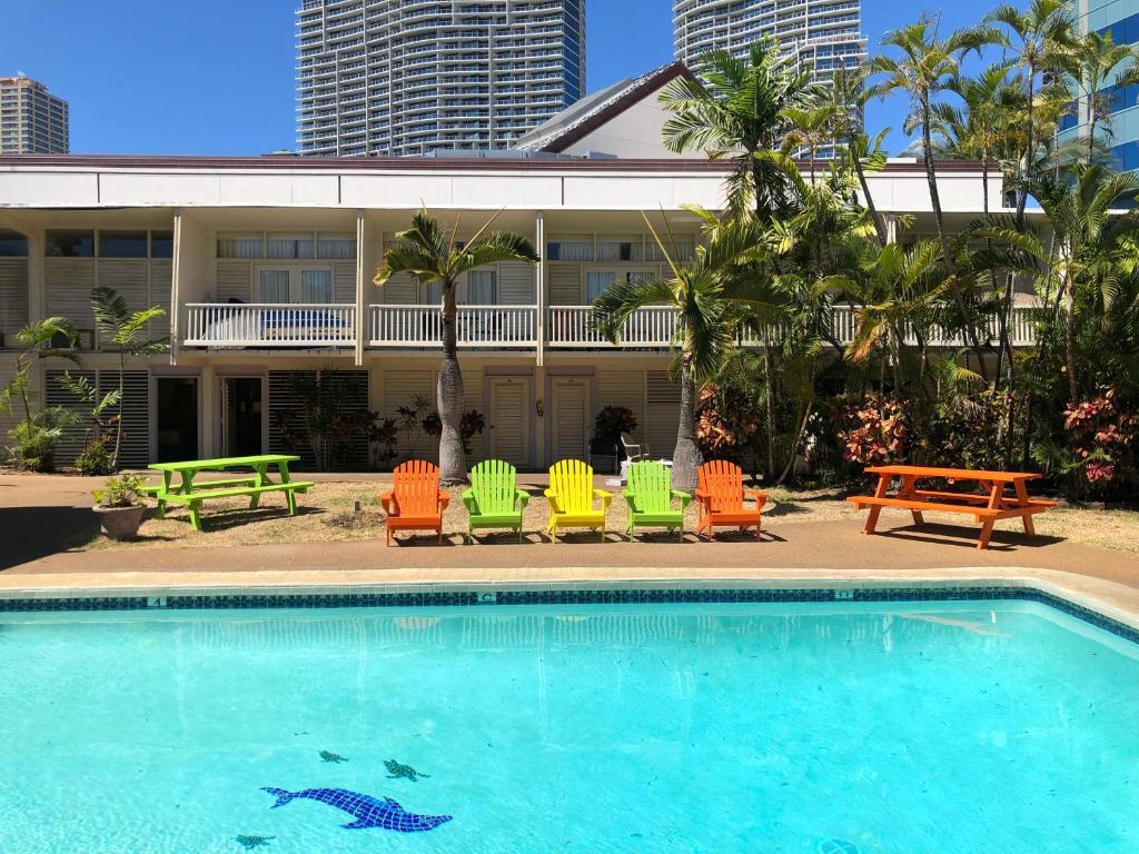 The swimming pool at or near Pagoda Waikiki