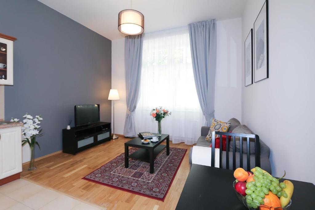 Posezení v ubytování Vinohrady Apartments Na Kozacce