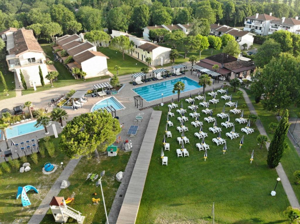 Letecký snímek ubytování Residence Duna Rossa