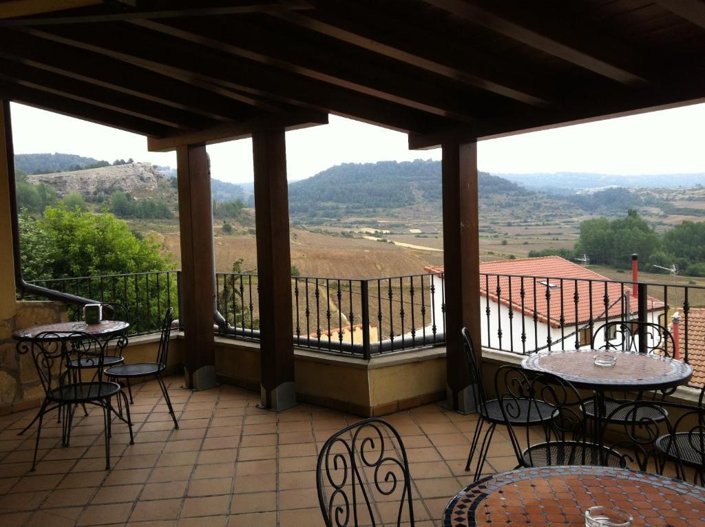 A balcony or terrace at Posada el Mirador