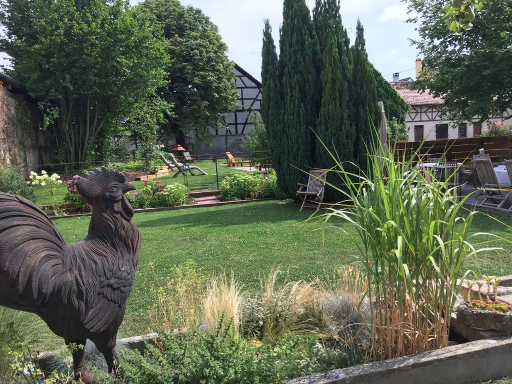Jardin de l'établissement Auberge Saint Laurent