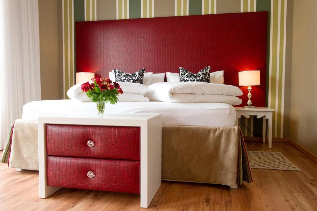 Ein Bett oder Betten in einem Zimmer der Unterkunft Namib Guesthouse