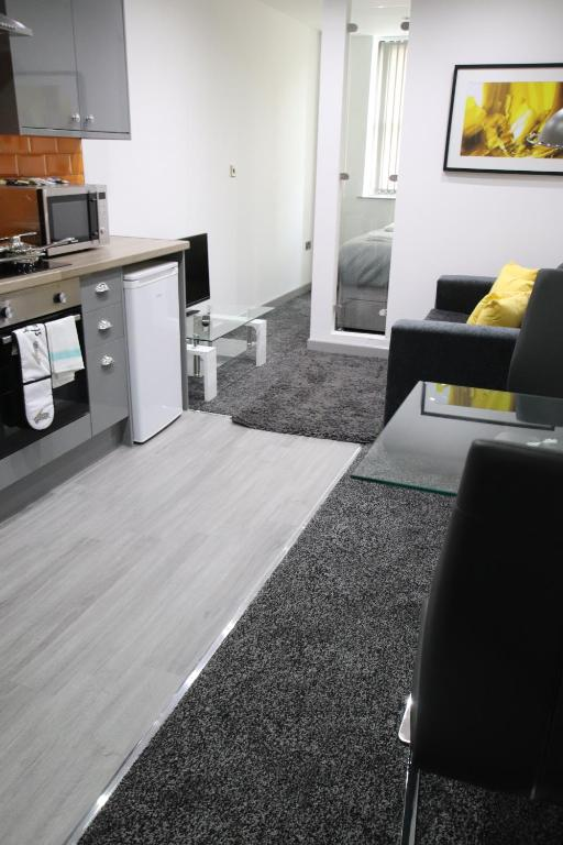 A seating area at Halifax House, Studio Apartment 214