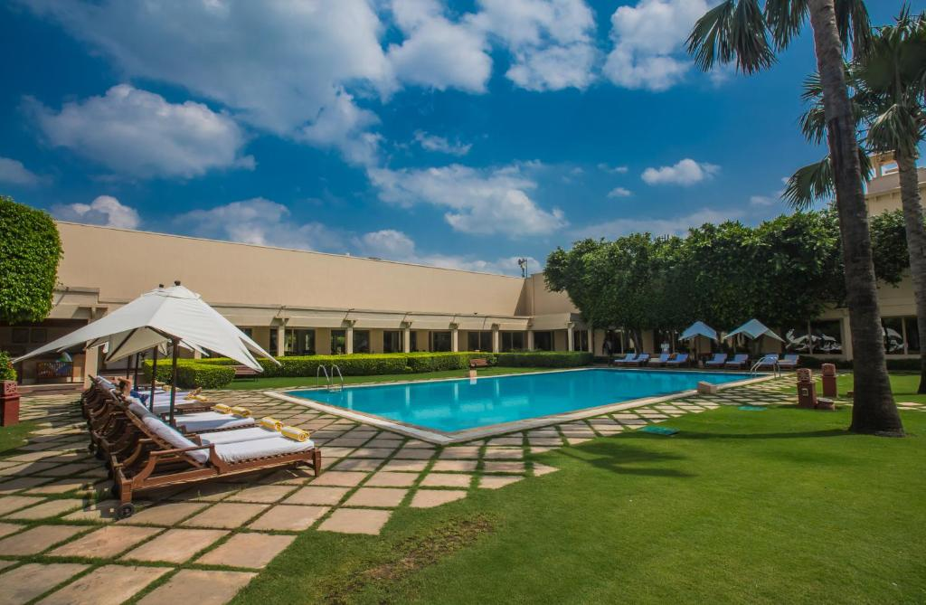 The swimming pool at or near Trident Agra