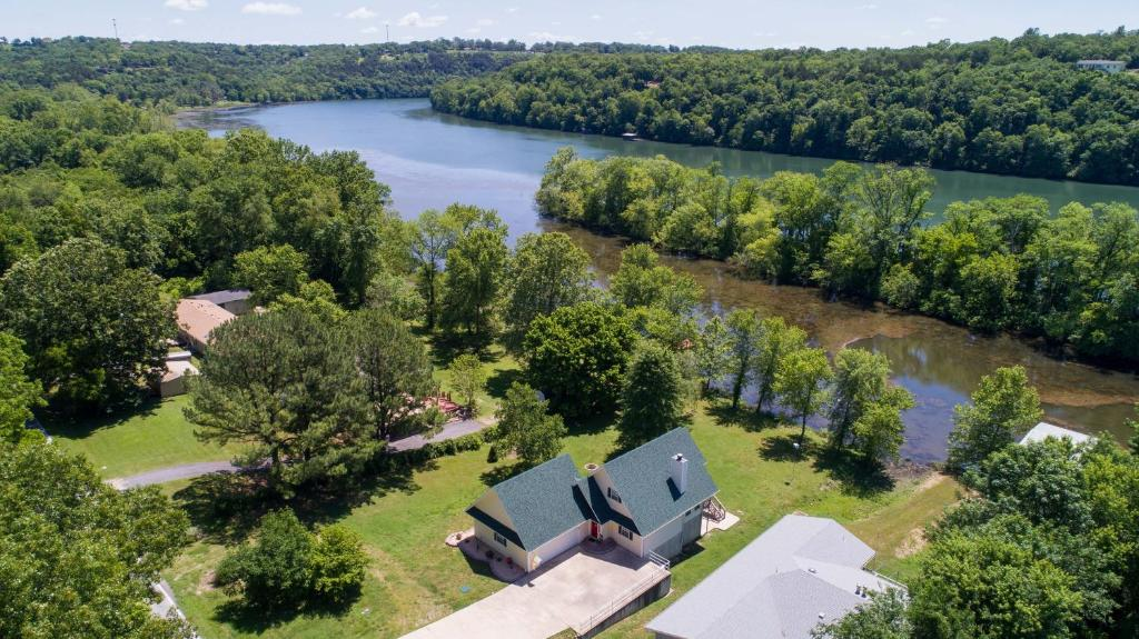 A bird's-eye view of The Lake House Home