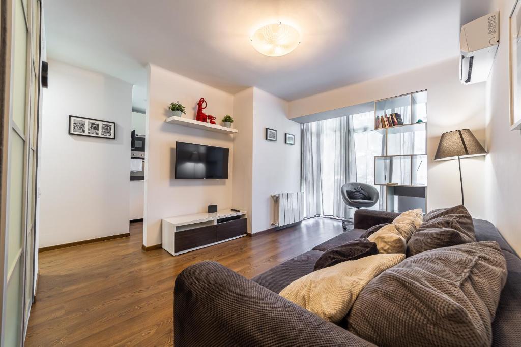 Гостиная зона в Апартаменты Милана