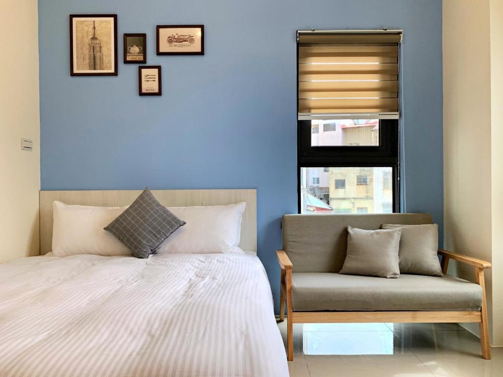 Letto o letti in una camera di Adagio Hostel