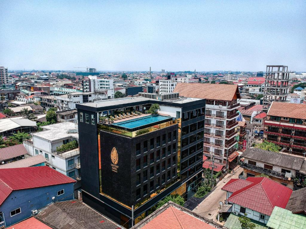 A bird's-eye view of Lao Poet Hotel